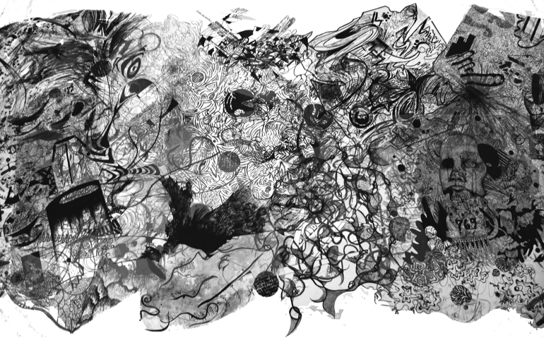 """""""All for One:  BioGraphic"""" Drawing Detail"""
